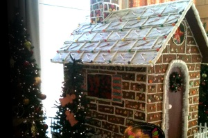 Big ole gingerbread house: proceeds go to Texas Boy's Ranch