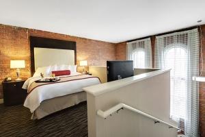 The Lane Hotel exposed brick loft