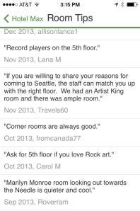 TripAdvisor - Room Tips