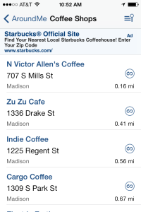 AroundMe - Madison, WI Coffee