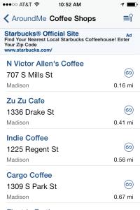 AroundMe - Madison, WI Coffee