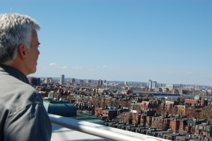 One of our fearless Partner Advocates, Frank, takes in Boston from the roof of The Lenox Hotel.