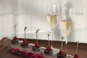 Champagne and chocolates for honeymooners at The James. That's more like it.