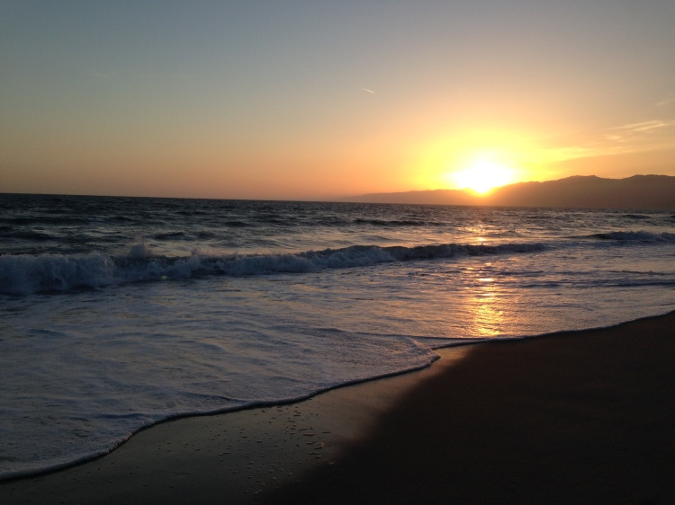Not a cubicle: Team Member Lisa Cousins working late in Santa Monica