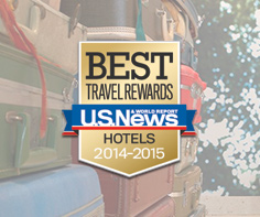 We're ranked as one of the Best Hotel Rewards Programs 2014-2015 by U.S. News and World Report!