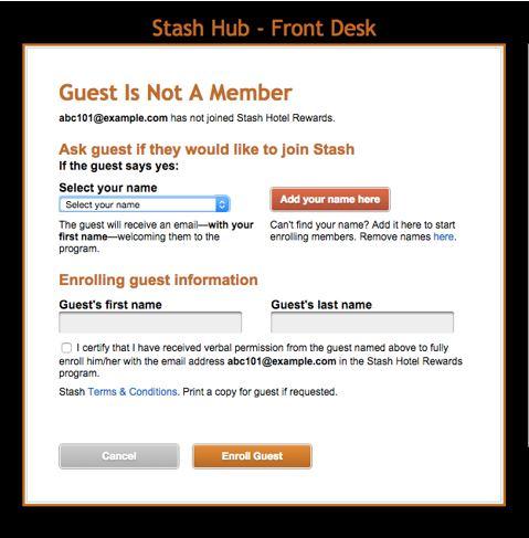 Stash hub drop down